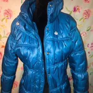 Adidas 40 year electric blue jacket